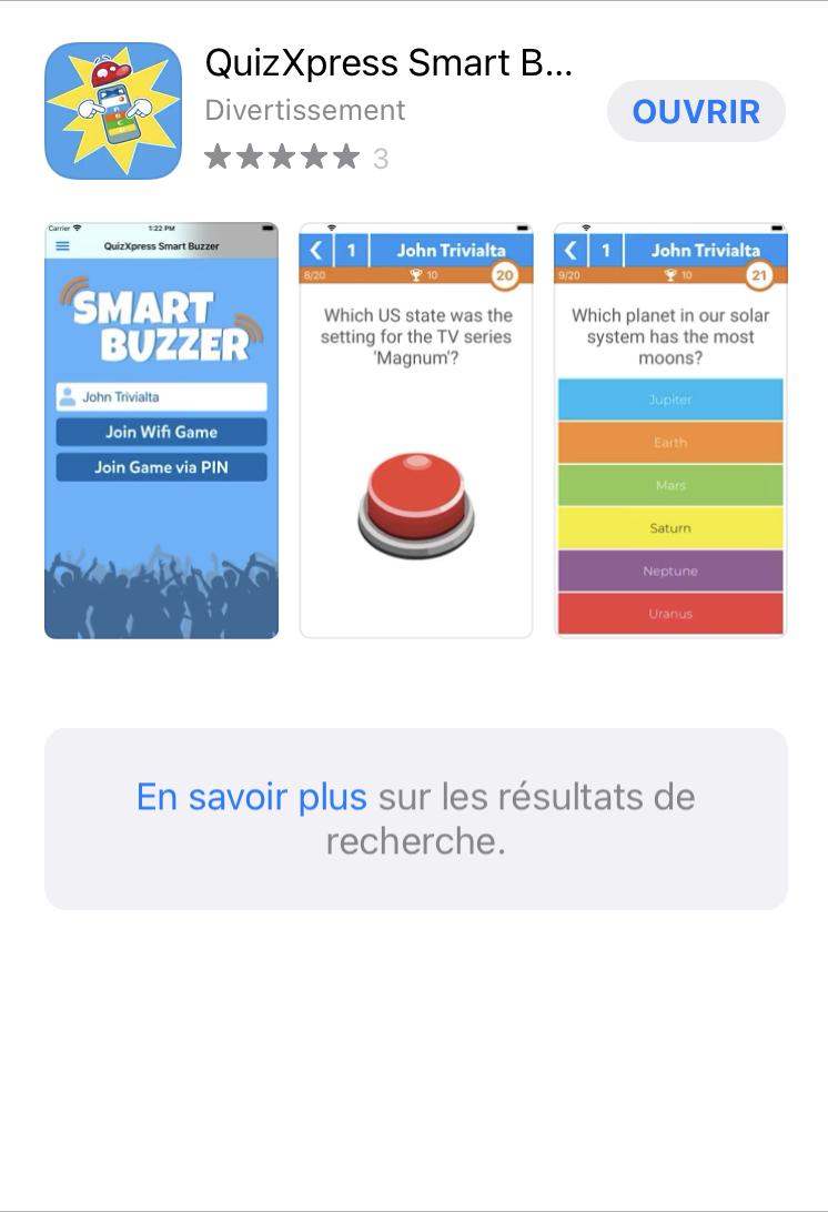 Téléchargez QuizXpress (Application gratuite)